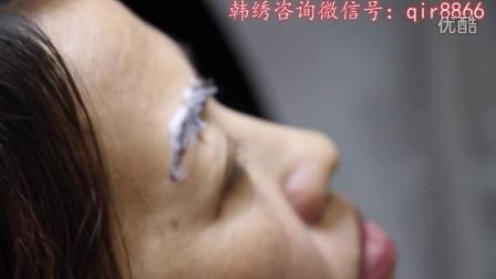 最好的最专业的北京韩绣韩式半永久化妆纹绣培训机构——半永久定妆眉部敷稳定剂技法(独家技法)