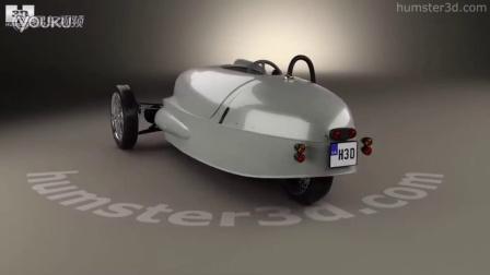 电动三轮车摩根EV3 全景3D打印模型