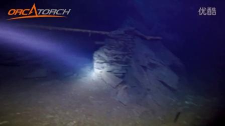 虎鲸OrcaTorch D600v分体式潜水手电筒英国矿洞潜水摄影