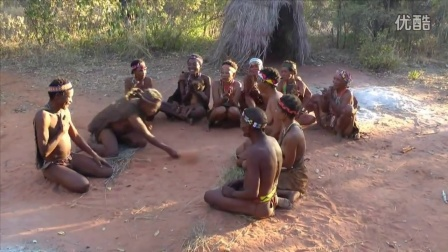 Primitive tribes in the heart of the Kalahari Desert