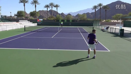 03 07 2015 Taylor Fritz practice at Indian Wells 4K