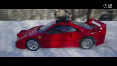 实拍:牛人开法拉利F40 崎岖的大雪山上 疯狂漂移...