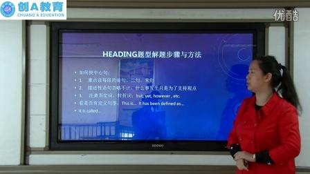 创A教育国际部公开课 雅思阅读list of heading题型 解题步骤与技巧