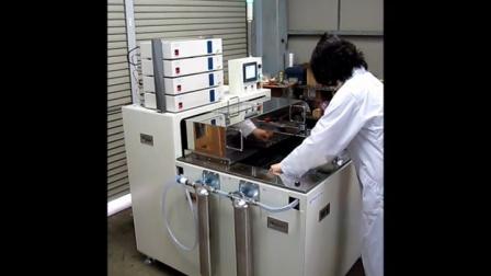 超音波バリ取り洗浄装置PERION-DB-4800試運転状況