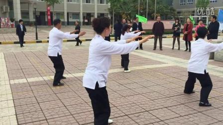 高陵优秀传统文化进校园活动培训中心教练团展演传统杨氏太极拳