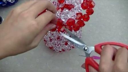 串珠花瓶第二节 手工DIY串珠花瓶视频教程