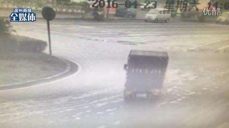 监控拍下惨剧!清洁工温瑞大道被撞,跌下20多米高架身亡