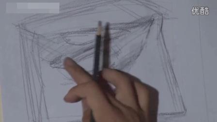 素描教程石膏几何体人物视频_初学素描_素描教程 素描入门教程