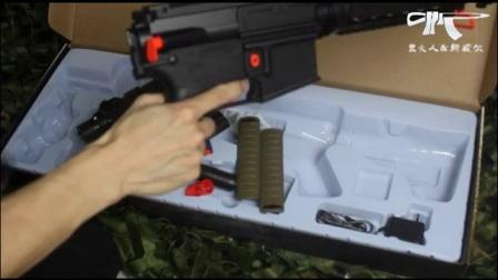 虫火人&新威尔二代M4电动水弹枪玩具开箱展示