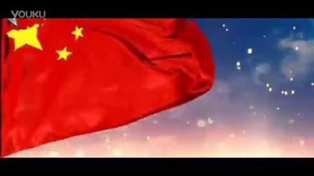 中国梦五星红旗飘扬长城天安门鸟巢火箭升空红绸缎飞LED视频素材