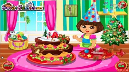 爱探险的朵拉历险记★朵拉的圣诞节蛋糕