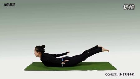 单色舞蹈瑜伽脊柱保养系列教学视频5-蝗虫式