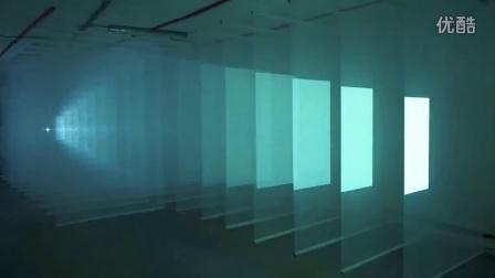 莫斯科科技节上独特的投影装置艺术震撼你的视听