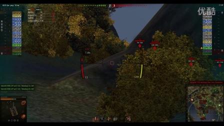 坦克世界 FV215b  9000输出 6杀