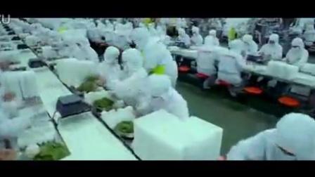 三全食品公司的速冻食品 生产基地流水线上手工包饺子高