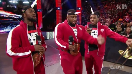 The Rock and The Usos lay the smackdown on The New Day- Raw, Jan. 25, 2016