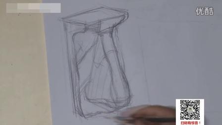 油画直接画法油画教程视频_素描几何形体入门_素描色彩教学视频16