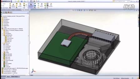 SolidWorks Flow — 电子冷却模块