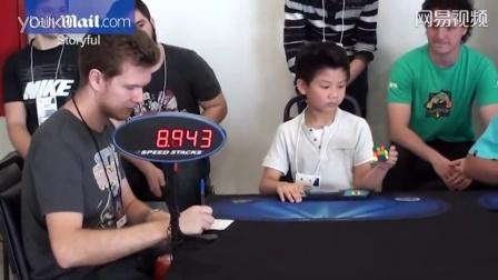 7岁正太仅用27秒单手还原魔方