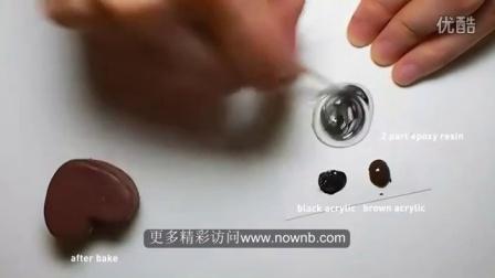 Polymer Clay Tutorial - Heart Cake 心型蛋糕点土制做教程