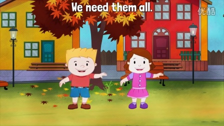 Under The Big Tall Chestnut Free Song - Four Seasons Song For Kids- ELF Kids Vid