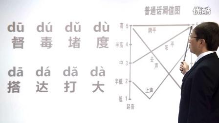 普通话教学视频声母d的发音要领和发音练习