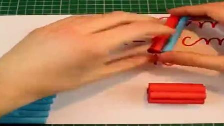 看大神用纸做的纸枪,还可以连发射纸弹