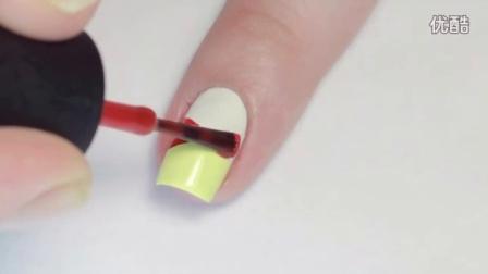 如何涂出-迪士尼米奇米老鼠 指甲 油图案教程