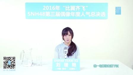 刘增艳—SNH48第三届偶像人气年度总决选拉票宣言