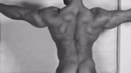 肌肉男秀背肌