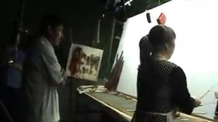 唐山皮影戏《聚虎山》后台演出实况片段