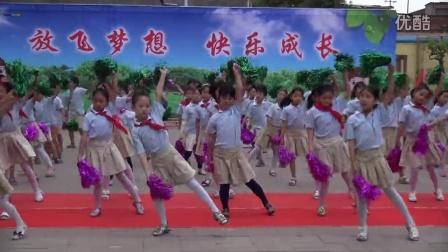 2016年磁涧小学庆六一节目汇演啦啦操《加加油》表演者:二年级全体学生