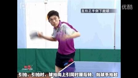 第8集:乒乓球直拍正手侧上、侧下旋发球