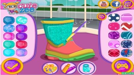 ★芭比娃娃 动画片小游戏★芭比时尚雨靴