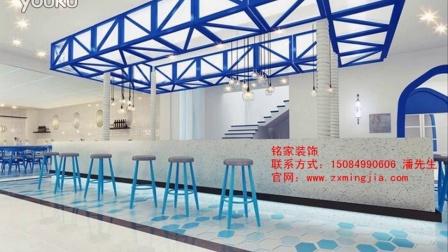 长沙郴州餐馆装修设计效果图,工业风餐厅装饰装潢图找铭家装饰