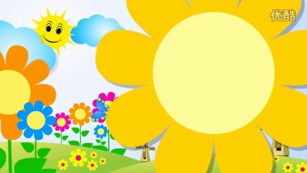 B296太阳彩虹花蝴蝶儿童节卡通高清素材