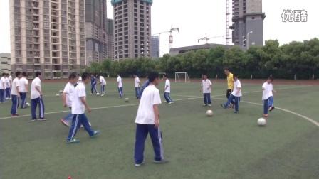 《足球-腳背正面,內側踢球》人教版初一體育與健康,丁聯磊