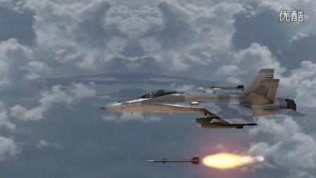 客机与战斗机发射导弹动画特效练习,ae,element 3d