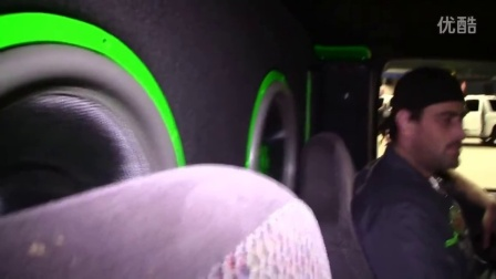 "WHITE CLOUDS on 4 15"" Subwoofers WALLED OFF"
