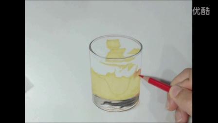 彩铅自学基础快速入门——彩铅画冰淇淋杯