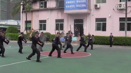 2016深圳龙岗机动训练大队女子中队警棍盾牌操