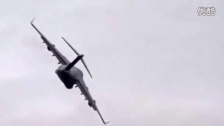 【軍事頻道】-美军C-17环球霸王Ⅲ运输机低空盘旋坠毁
