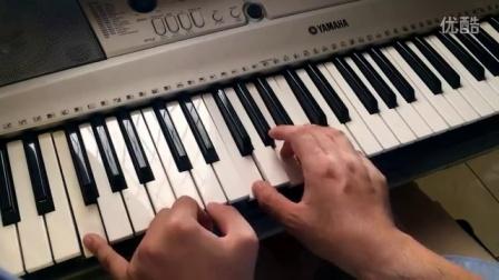 [钢琴键盘弹唱教学 #1]你知道我在等你吗,初学者超级速成