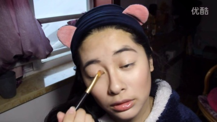 【兔爹】no mirror makeup challenge