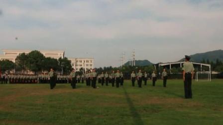 浙江越秀外国语学院教官队08期2015-2016学年第2学期结训仪式