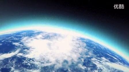 卫星地图地球穿梭穿越到云层海面建筑放大标志展示_高清