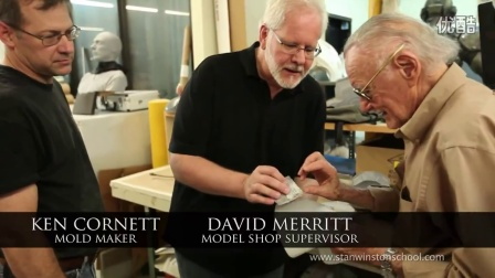 斯坦李参观斯坦温斯顿特效工作室体验钢铁侠道具制作