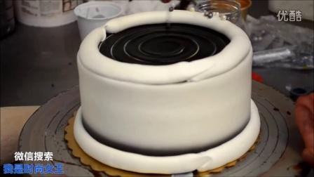 如何装饰简单的银河主题生日蛋糕