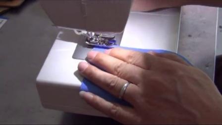 胜家缝纫机1409的简易锁边操作指南