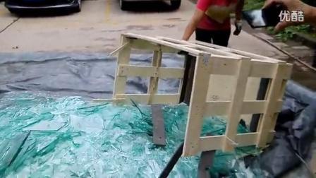 多层板箱与海方方形纸管箱自由跌落对比试验_高清